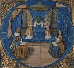 """""""Louis XII et Anne de Bretagne devant la sainte Couronne d'épines"""", Paris, Maître de Philippe de Gueldre, vers 1500"""