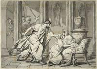 "Jacques-Louis David, ""Caracalla tue son frère Geta"", vers 1782"